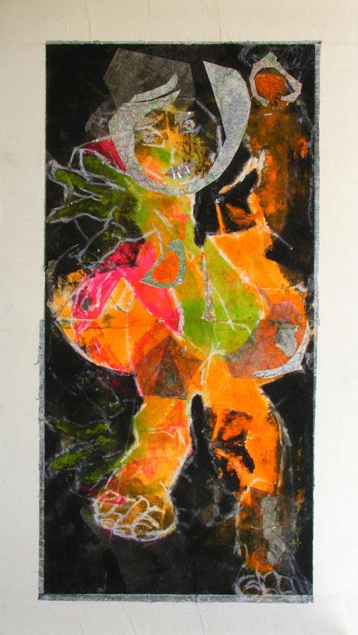 CLOTILDE CONCUBINE - 2010 - Technique mixte sur papier marouflé sur toile (168x95) - Collection Privée - © Palombit
